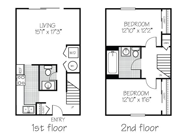 2 Bedroom 1 5 Bathroom  CP Townhouse. Campus Pointe   Campus Manor   uCribs