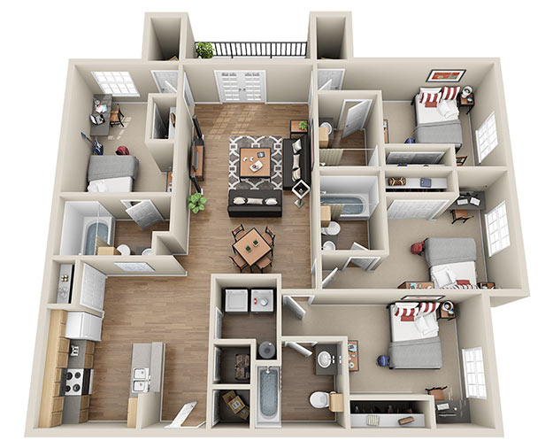 Ucribs for Four bedroom apartments